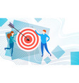 business people with target aim strategy success vector image