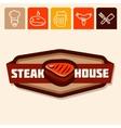 steak house vector image