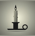 candle and candlestick vector image