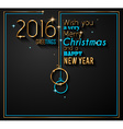 2016 Happy New Year Background for your Greetings vector image