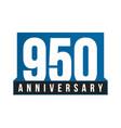 950th anniversary icon birthday logo vector image vector image