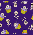 a bright seamless pattern for halloween vector image