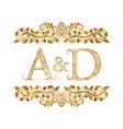 ad vintage initials logo symbol