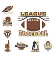 american football championship badge template for vector image