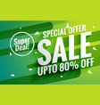 awesome green sale banner voucher for marketing vector image vector image