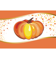 Background with Pumpkin vector image vector image
