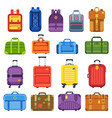 baggage suitcase handle travel bag luggage vector image vector image