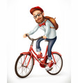 bicyclist man on a bicycle 3d icon vector image vector image