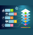 Business presentation infographic concept vector image