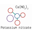 CaN2O6 Calcium nitrate molecule vector image vector image