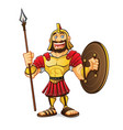 cartoon roman army vector image vector image