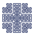 celtic knot cross vector image vector image