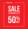 clearance sale 50 vector image