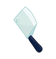 cleaver knife vector image