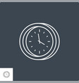 clock related line icon vector image