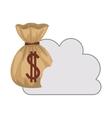 cloud with money sack icon vector image vector image