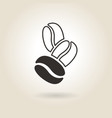 Coffee Beans Icon vector image vector image