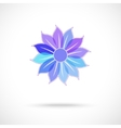 colorful flower symbol vector image vector image