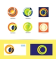 Corporate business circle logo vector image vector image