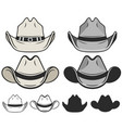 cowboy hat flat color and line old hat vector image