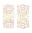 elegant floral ornament golden decor on light vector image