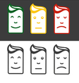 Emotion icon set vector image vector image