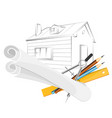 engineering project at home vector image vector image