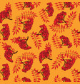 fall seamless pattern autumn leaves background vector image vector image