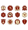 Fire department logo and badges vector image vector image