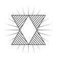 frame monochrome elegant icon vector image vector image