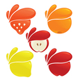 fresh fruits and berries vector image vector image