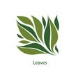 green leaves trees and plants elements for eco vector image