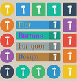 hammer icon sign Set of twenty colored flat round vector image