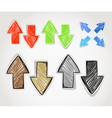 Hand-drawn arrow symbols collection vector image vector image