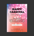 happy brazilian carnival day colorful blurred vector image vector image