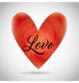 Heart shape icon Watercolor design vector image