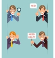 Help Support Listen Overhear Spy Looking Out vector image vector image
