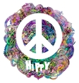 Hippie style vector image vector image