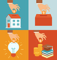 investment concepts in flat style vector image vector image