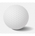 isolated golf ball on transparency grid vector image vector image