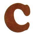 Leather textured letter C vector image vector image