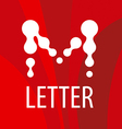 logo letter M in the form of drops vector image vector image