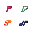 Logo Templates for letter P vector image vector image