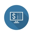 Making Money Icon Business Concept Flat Design vector image vector image
