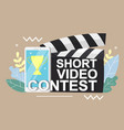 mobile short video contest concept for web vector image