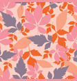 pastel autumn leaves seamless pattern vector image vector image