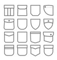 patch pocket set fabric and cloth element vector image
