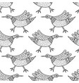 pattern with birds in indian traditional gong vector image vector image