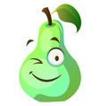 pear monster winks on white background vector image vector image