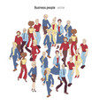 people crowd cartoon style of young vector image vector image